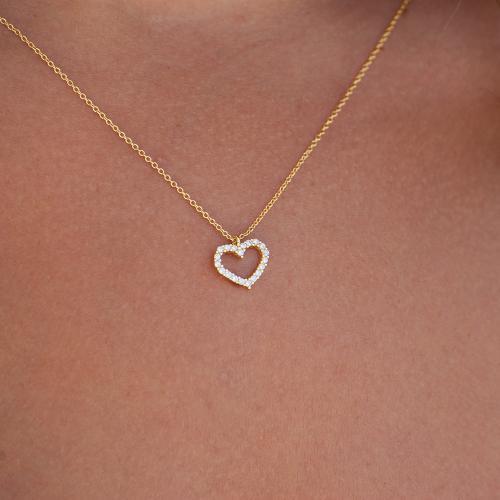 Collar Corazón de Mar Blanco